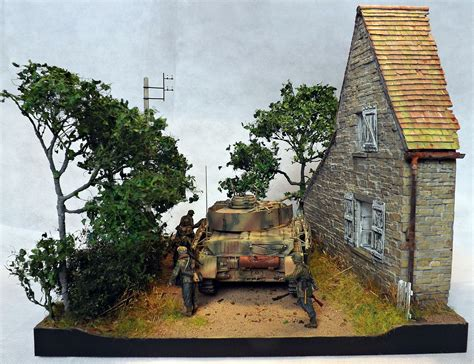 """""""Counter Attack-Normandy 1944"""" 1/35 scale diorama by"""