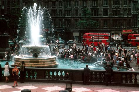 16 Color Photographs of Street Scenes of London in 1966