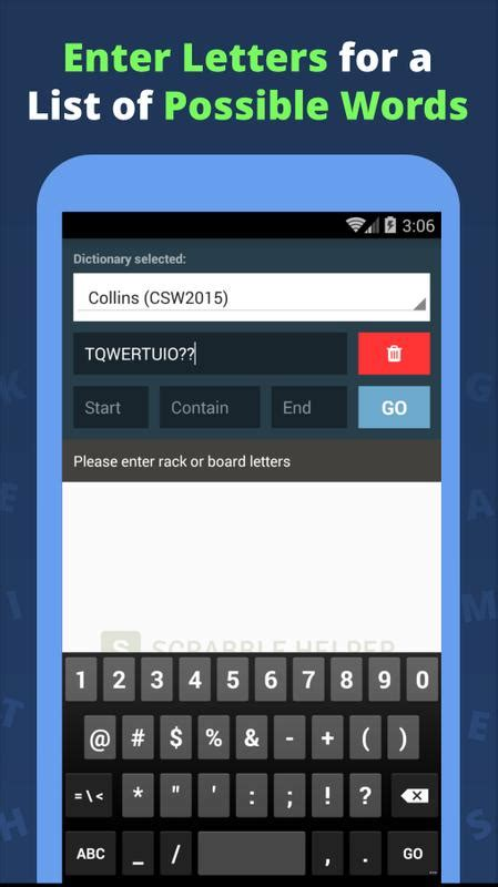 Word Helper - Scrabble Cheat for Android - APK Download