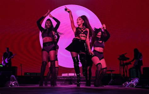 """Ariana Grande is """"overwhelmed"""", and way too brief, at"""