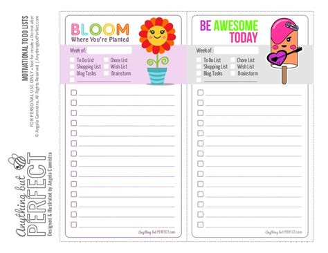 cute to do list (free not for sale)