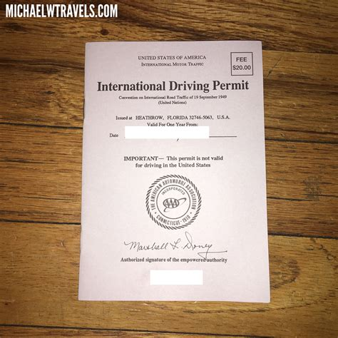 How To Get An International Driving Permit 1 - Michael W