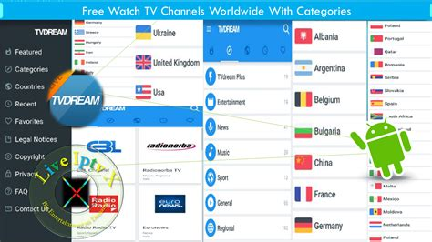 Android Live TVDREAM Apk for Worldwide TV Channels With