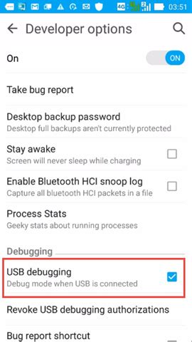 Debugging a C++ application on an Android device with