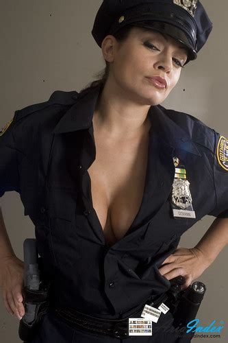 Busty cop Aria Giovanni | Aria Giovanni dressed up as a