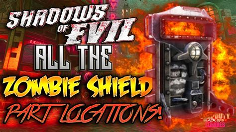 """Shadows Of Evil - ALL """"ROCKET SHIELD"""" Part Locations   How"""